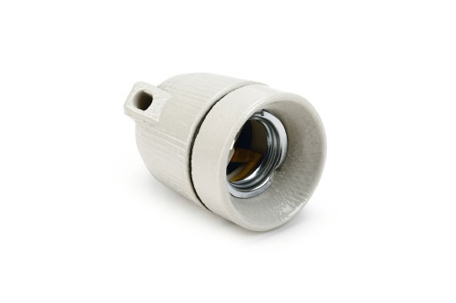 KERAMISCHE FITTING(E27)+OPHANGH WIT